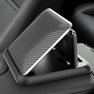 Carbon Fiber Car Phone Holder Dashboard Universal 3 to 6.5 inch Mobile Phone Clip Mount Bracket For iPhone XR XS MAX GPS Stand