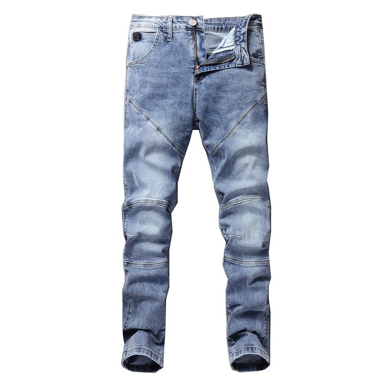 Mens Youthful  Straight Slim High Quality Pants Denim Casual Harem Male Fashion Trousers Jeans  Man  solid Versatile Streetwear