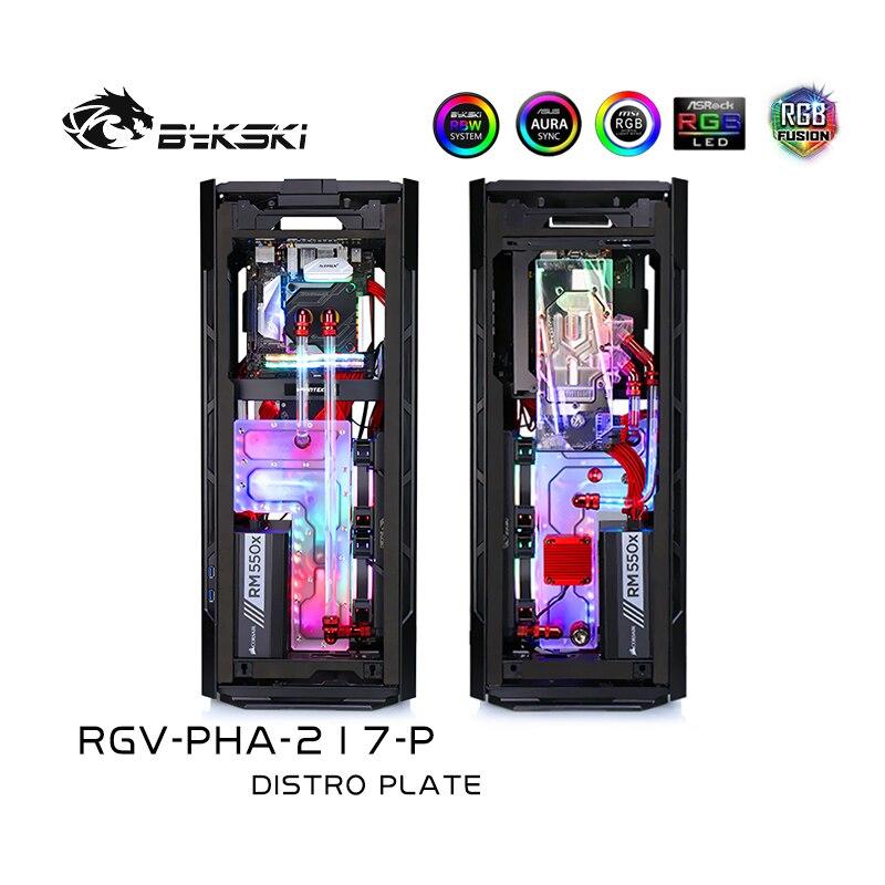 Bykski ممر مائي عدة التبريد ل PHANTEKS 217EX Case ، 5 فولت ARGB ، ل وحدة معالجة الرسومات بناء واحد ، RGV-PHA-217-P
