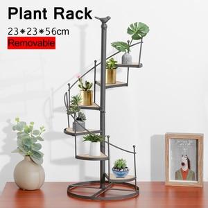 6 Tiers Flower Plant Stand Gardening Display Rack Spiral Showcase Flower Pot Shelf Home Outdoor Patio Garden Pots Holding Rack