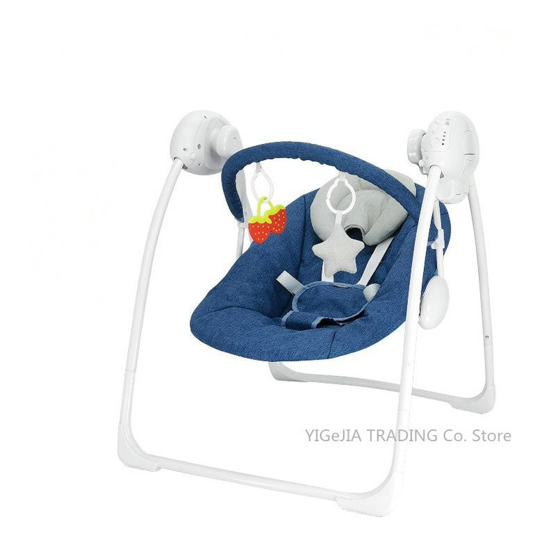 Soothing Portable Swing Baby Recliner, 5-Speed Swing Multi-Function Comfort Electric Infant Rocking Chair
