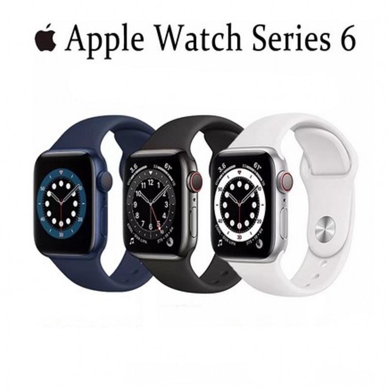 Get Original Apple Watch Series 6 GPS Cellular 40MM/44MM Aluminum Case with 5 Colors Sport Band Smart watch