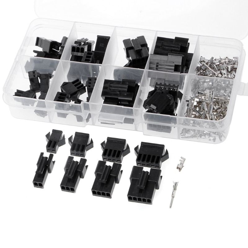 20 Sets SM 2.54mm Pitch 2P 3P 4P 5P Female Male Header Connectors Adaptor