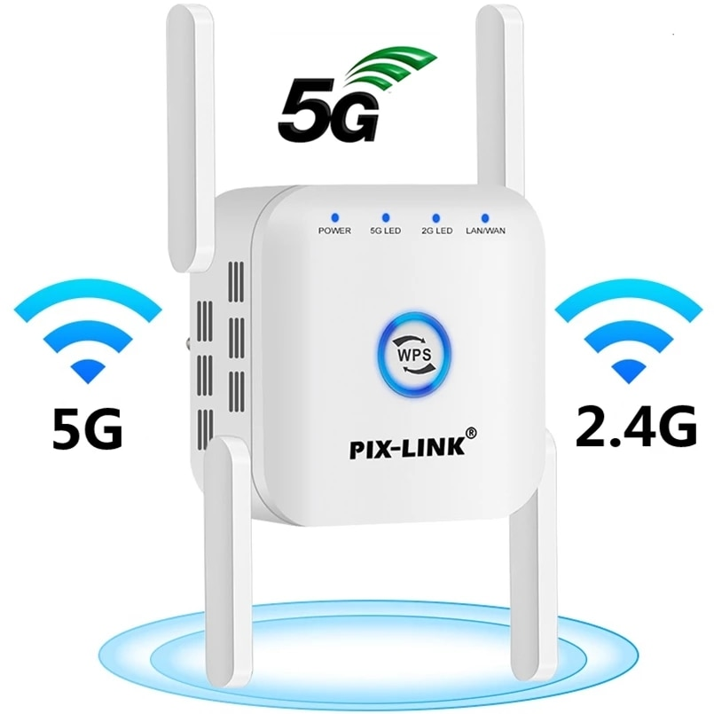 5G Wifi Repeater Wifi Extender 2.4G 5G Amplifier 5 ghz Router Wifi Booster 4 Antennas WiFi Signal Extended To Smart Home Devices