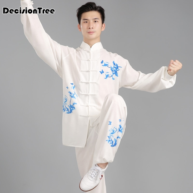 2019 traje chino tradicional de artes marciales, traje de tai chi, mujeres, hombres, jiu jitsu kung fu, conjuntos de bordado de uniforme wushu