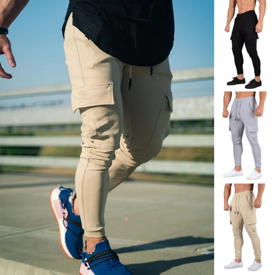 Jogging Pants Men Sport Sweatpants Running Pants GYMs Pants Men Joggers Cotton Trackpants Slim Fit P