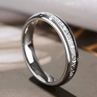 stainless steel ring mens and womens rings couple rings silver silver wire inlaid epoxy craft fashion jewelry accessories