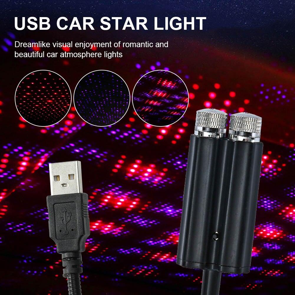 Автомобильный Декор звезсветильник свет на крышу Автомобильный интерьер светодиодный звездный свет s USB атмосферный светильник Тор свет s р...