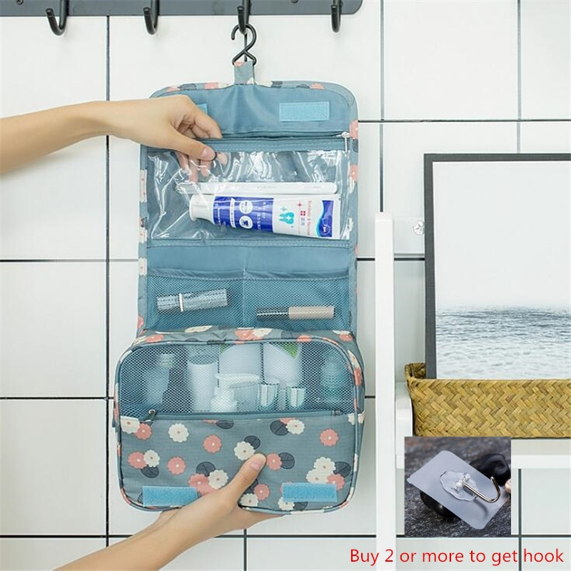 jytop portable multi function waterproof hanging wash bag toiletry bag travel cosmetic bag pouch organizer Travel Makeup Bag Large Waterproof Portable Man Toiletry Bag Women Cosmetic Organizer Pouch Hanging Wash Bags Ladies Beauty Bag