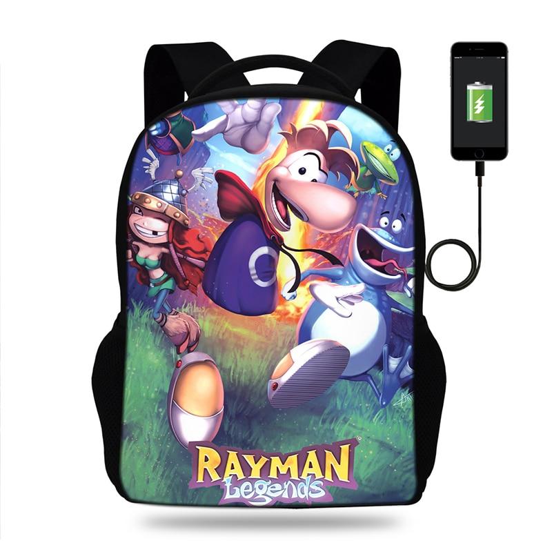 Mochila de 17 pulgadas para niños, mochila escolar con carga Usb, bolsa escolar para estudiantes, bolsa de ordenador con estampado 3D de Satan para teengers, para niños y niñas