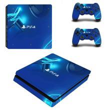 Наклейки Blue LImited Edition для консоли PlayStation 4 и контроллеров PS4 Slim