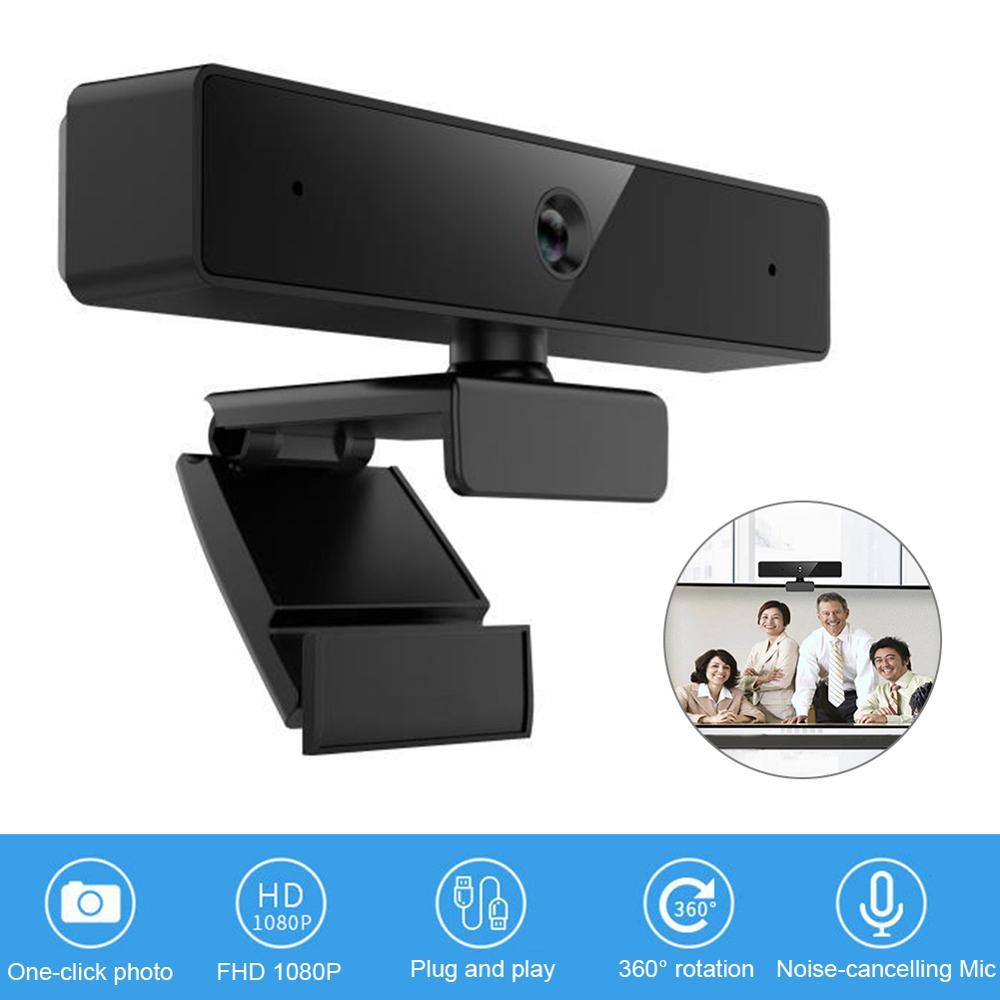 Webcam Full HD 1080P con micrófono integrado, videoconferencia en vivo, Streaming, cámara Web USB para PC, oficina remota, alta calidad