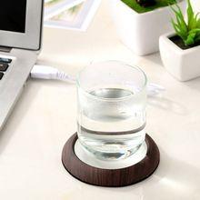 Taza de grano de madera USB calentador de calor taza para bebidas estera mantener la bebida caliente calentador tazas posavasos caliente