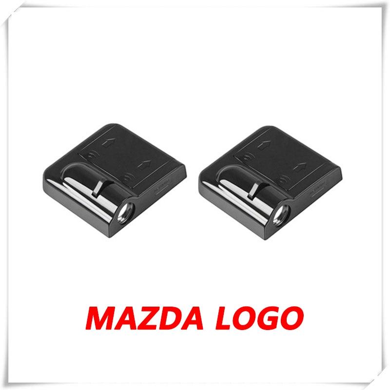 2X del logotipo del coche LED DE luz DE baja reflexión proyector DE láser DE cortesía para Mazda 2 DY DE DJ 3 BK BL BM 5 CR 6 GH GJ GL CX-3 CX-5 MX-5