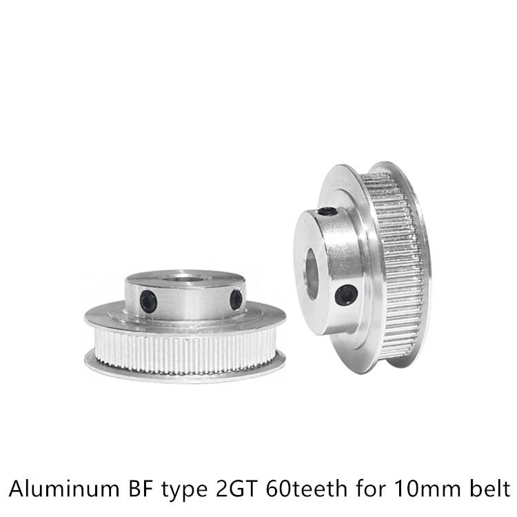 Rueda sincrónica GT2 60 dientes agujero 5mm 6mm 6,35mm 8mm 12mm 14mm ajuste 2GT correa de 9mm 10mm