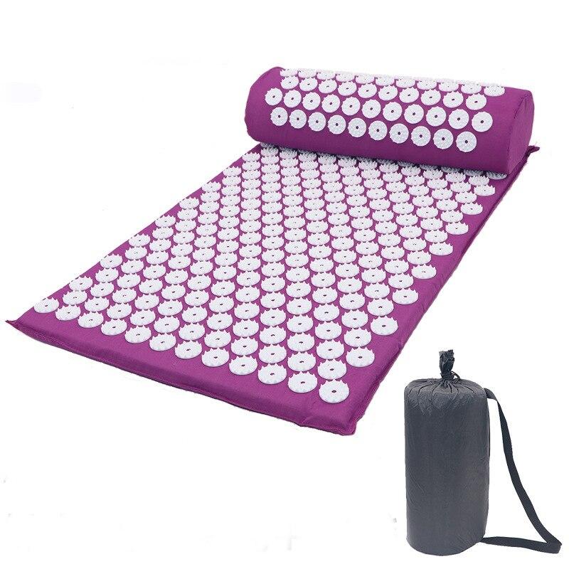 Массажная подушка, массажный коврик для йоги, акупрессура, облегчающий стресс, боль в спине, шип, коврик для акупунктурного массажа, коврик для йоги с подушкой