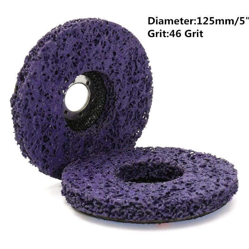 2 piezas 125 mm 115 mm 5 pulgadas 46 rueda de disco de molienda de grano para amoladora angular herramientas abrasivas púrpura negro azul