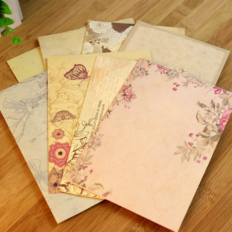 AliExpress - 10pcs Vintage Office Message Writing Paper Letter Set European Country Style Love Envelope Letter Paper School Stationery Supply
