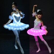 Nouveau Ballet professionnel Tutus LED lac des cygnes vêtements de danse Ballet adulte jupe Tutu femmes ballerine robe pour Costume de danse de fête