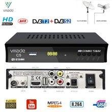 Récepteur de télévision par Satellite terrestre numérique HD DVB-T2 DVB-S2 combiné DVB S2 H.264 MPEG-4