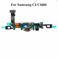 Original USB Charging Dock Port Flex cable For Samsung C5 G5000 SM-C5000 Charger plug board+Home Return Sensor Microphone parts