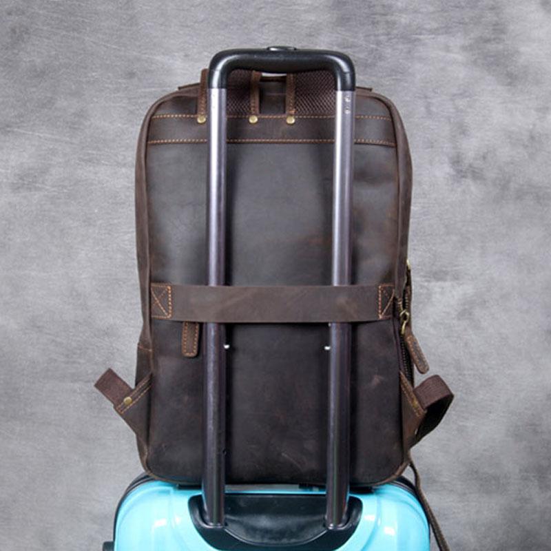 AETOO خمر مجنون الحصان حقيبة كتف جلدية ، اليدوية جلد طبيعي على ظهره الرجال كبيرة الجلود حقيبة السفر الكمبيوتر