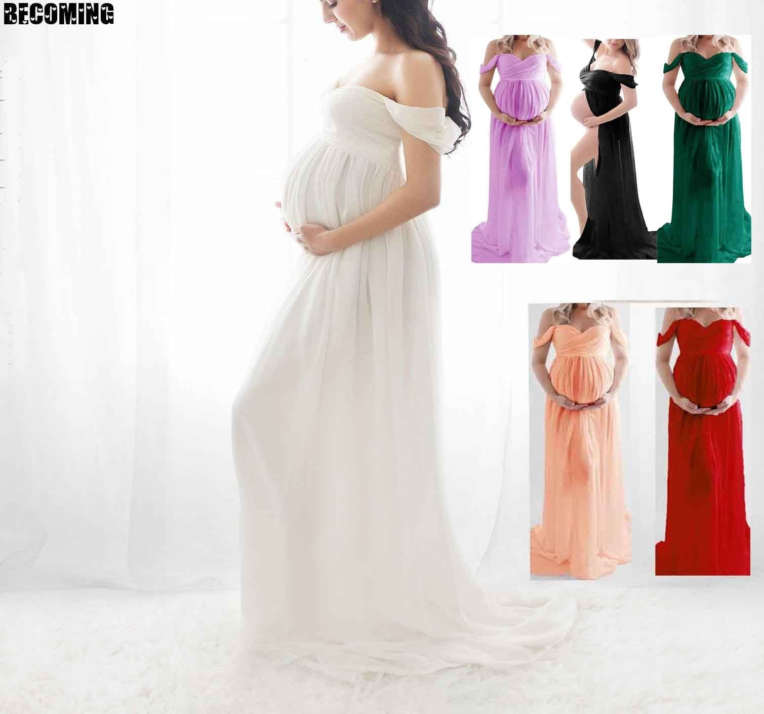 Dress Pregnant Photography White Dress Pregnancy Clothes Big Sexy Maternity Dress For Photo Shoot  Pregnant Dress Photography 26 enlarge