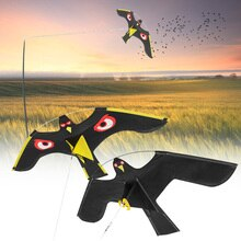 Emulation Flying Hawk Bird Scarer Drive Bird Kite Bird Repellent for Garden Scarecrow Yard Home Bird Repeller