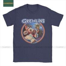 Gremlin 84 T-Shirts homme Gizmo 80s film Mogwai monstre rétro science fiction Vintage coton t-shirt col rond manches courtes T-Shirts