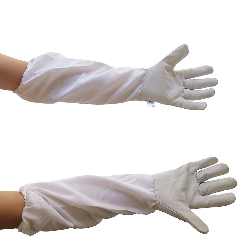 1 пара пчеловодческих перчаток козлиная кожа протационные перчатки пара стойких манжет перчатки для пчеловодов кожа пчела инструменты