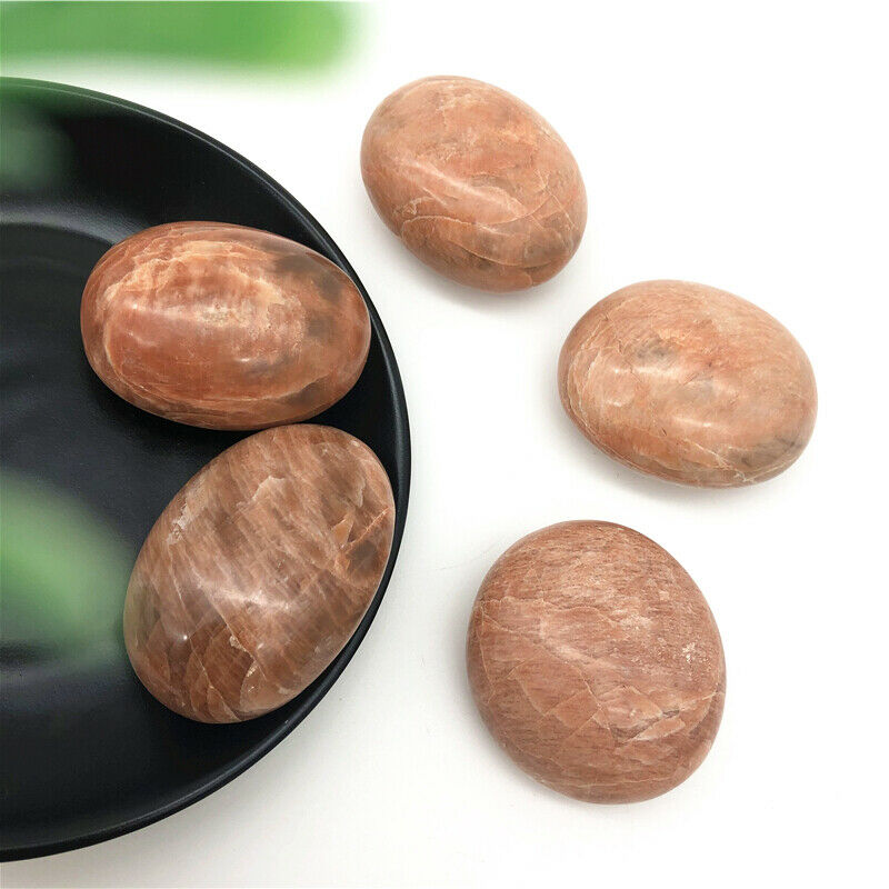 Melocotón piedra Palma piedra piedras naturales y minerales de masaje de piedras preciosas naturales de piedra luna reiki sanación decoración moderna