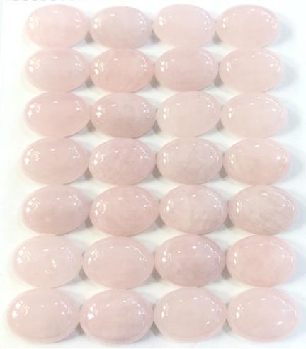 10x14mm oval natural Cabochon pink quartz CABOCHON gem stone rose quartz CABS gemstone for pendant necklace earrings making