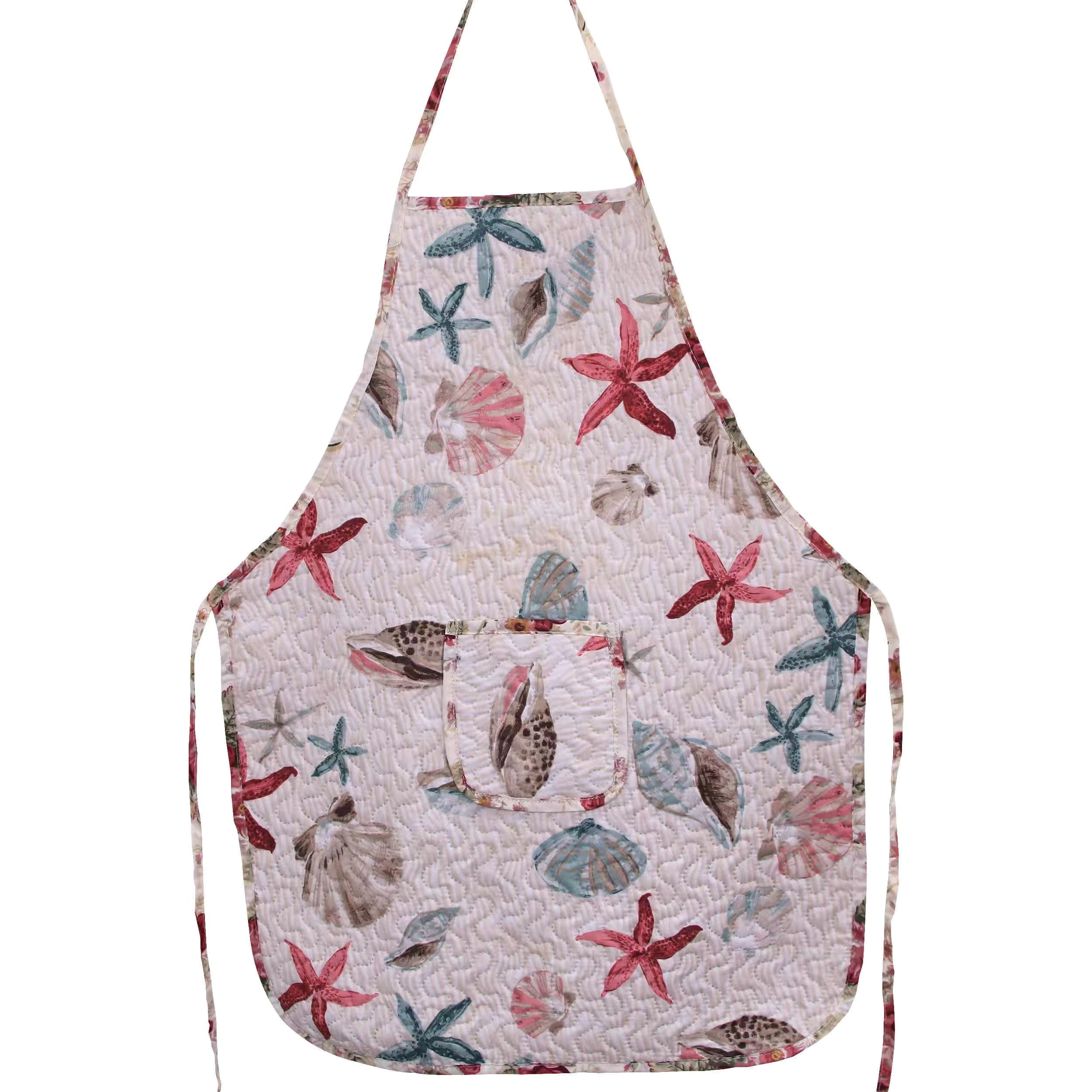 New style quilted apron multi-color rural home anti-fouling thickened water-absorbing floral