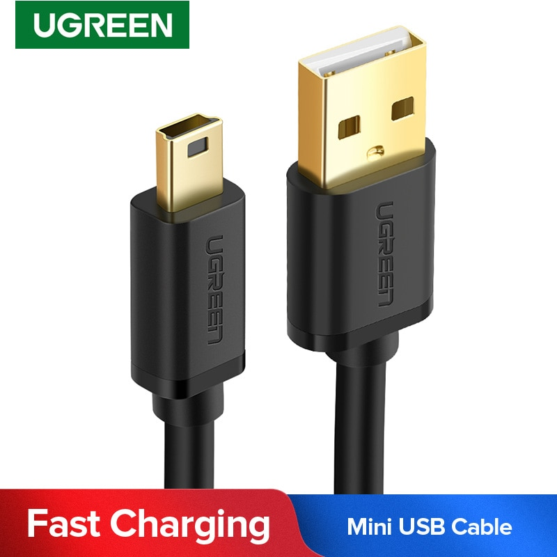 Ugreen Mini USB to USB Cable Mini USB Fast Data Charger Cable for MP3 MP4 Player Car DVR GPS Digital