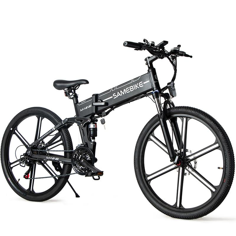دراجة كهربائية 500W LO26-II Ebike 26 بوصة دراجة كهربائية قابلة للطي 21 والعتاد سرعة دراجة هوائية جبلية 500W 48V 10AH 30 km/h SAMEBIKE