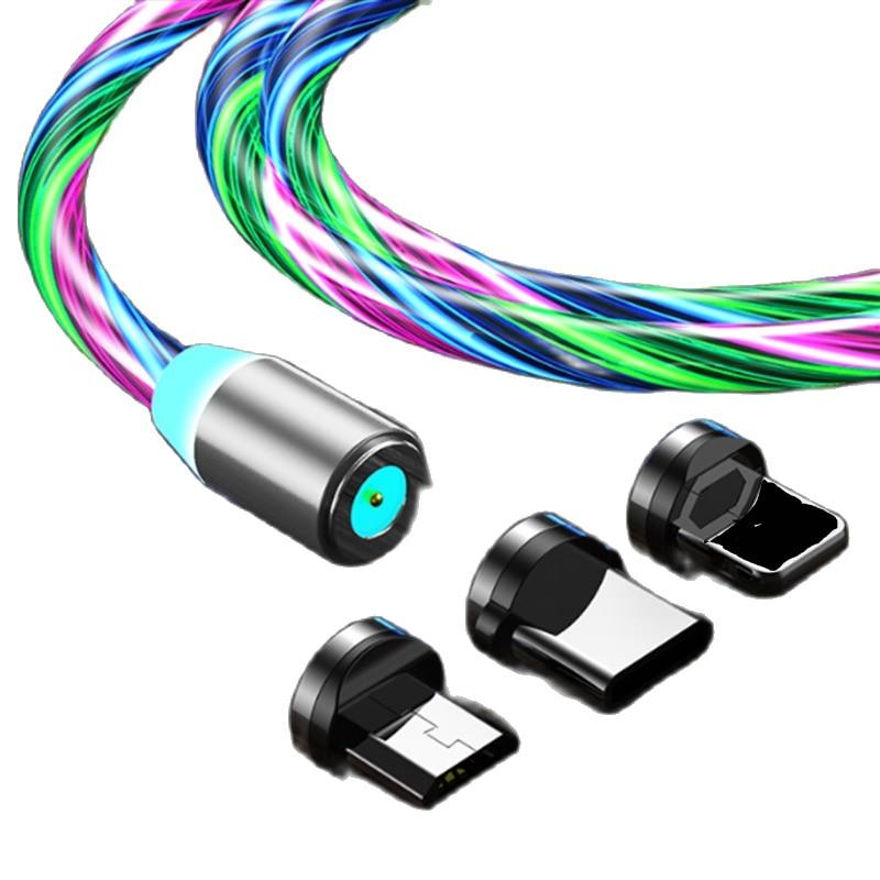 Tutew-Cable de carga para teléfono móvil, Cable de carga de iluminación luminosa...