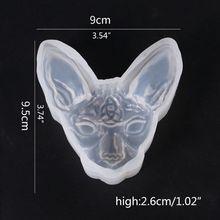 3D Cartoon Cat Silicone Resin Epoxy UV Glue Mold Creative Craft DIY Pendant Jewelry Brooch Making Accessories