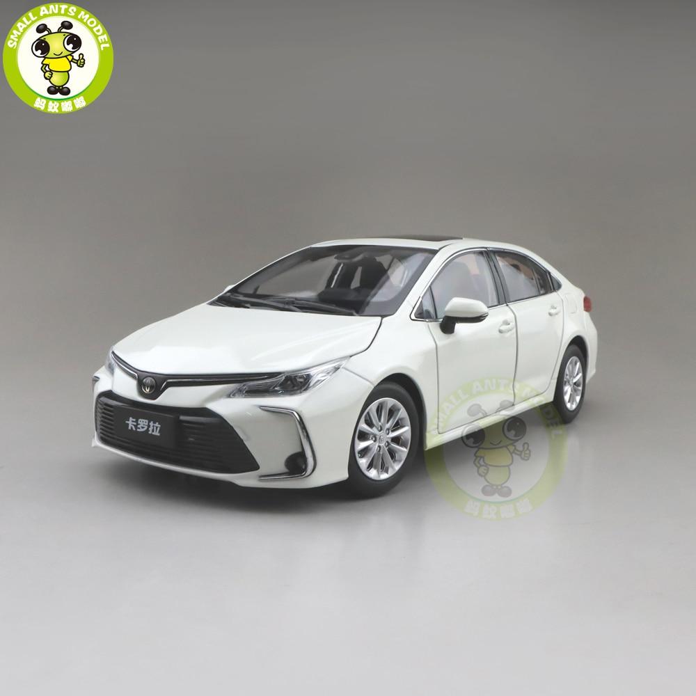 1/18 TODOS OS NOVOS Corolla 2019 Diecast Modelo Do Carro BRINQUEDOS MENINOS MENINAS PRESENTES Branco