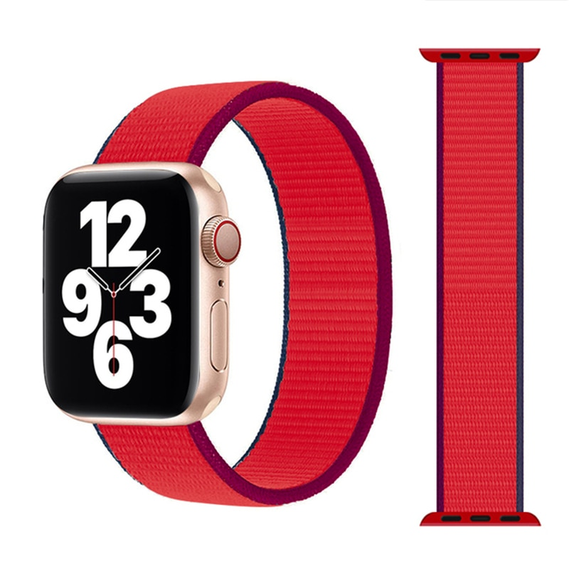 1 1 offical strap for apple watch series 6 5 se 4 braided solo loop 40mm 44mm woven watchbands for iwatch 3 2 1 38mm 42mm strap Braided Solo Loop Nylon Strap For Apple Watch Band 44mm 40mm 38mm 42mm Elastic Bracelet For IWatch Series SE 6 5 4 3 Watchbands