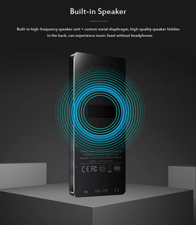 MP4 Player with Bluetooth Speaker Touch key Built-in 8GB 16GB HiFi  Portable Walkman with FM Radio Recording Music Player enlarge