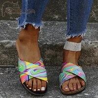 zoelea summer slippers sandals shoes woman 2021 colorful transparent open toe flip flops clear women outdoor flat beach slides