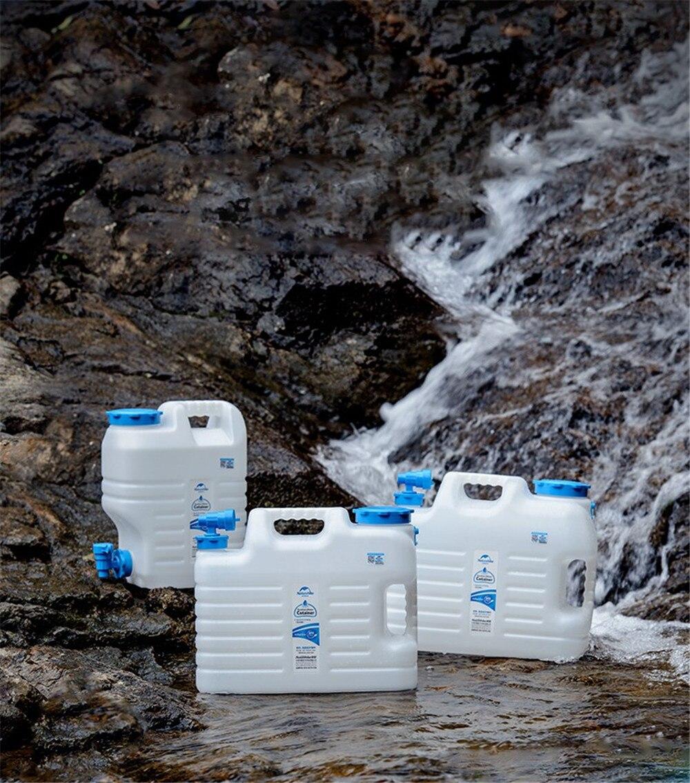 Туристический бак для хранения минеральной воды, 12 л, 18 л, 24 л, Litros, Naturehike-NH, чистая помпа, для машины