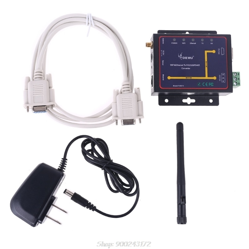 Wifi ethernet rj45 para rs232 rs485 conversor de servidor serial apoio watchdog modbus gateway tcp udp ip p2p s17 20 dropship