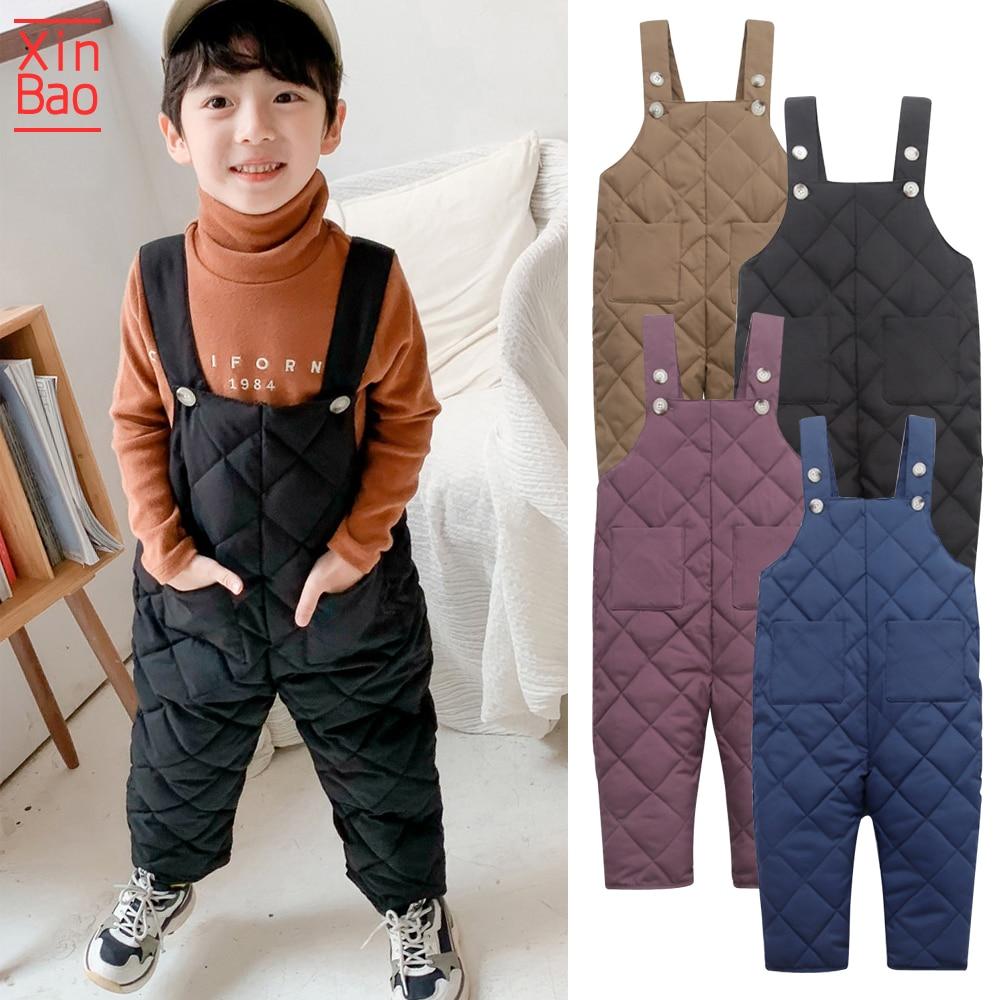Xingao 2019 niño niñas niños invierno niños abajo algodón ropa pantalones Leggings niños calientes pantalones a prueba de viento nieve impermeable