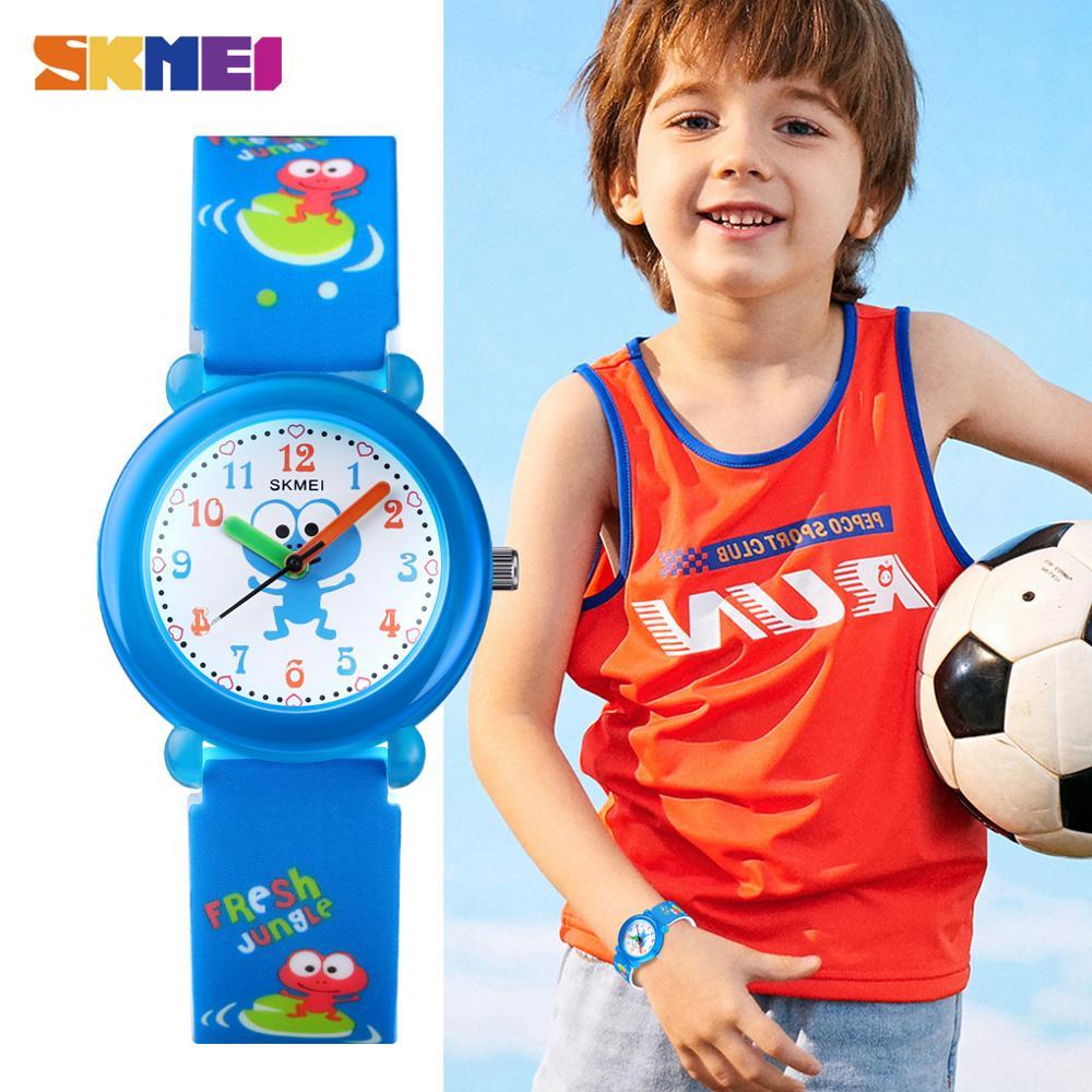 Creative Children Clock Cartoon Dinosaur Bear Rabbit frog Animation Pattern Kids Quartz Wrist Watches For Boys Girls Gift Clock