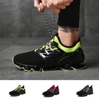 trendy mens casual sports shoes running shoes pu twist soles shock absorption and breathable