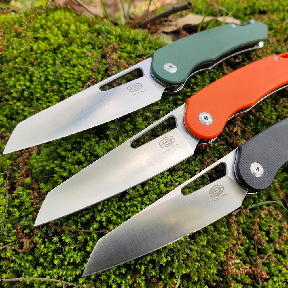 trskt s 13 flipper knife folding knives d2 steel stone wash blade survival rescue pocket knife with tc4 handle edc camping tool Critical Strike S503 D2 Blade G10 Handle Camping Hunting Folding Knife Outdoor Pocket Survival Fishing Flipper Edc Knife CSGO