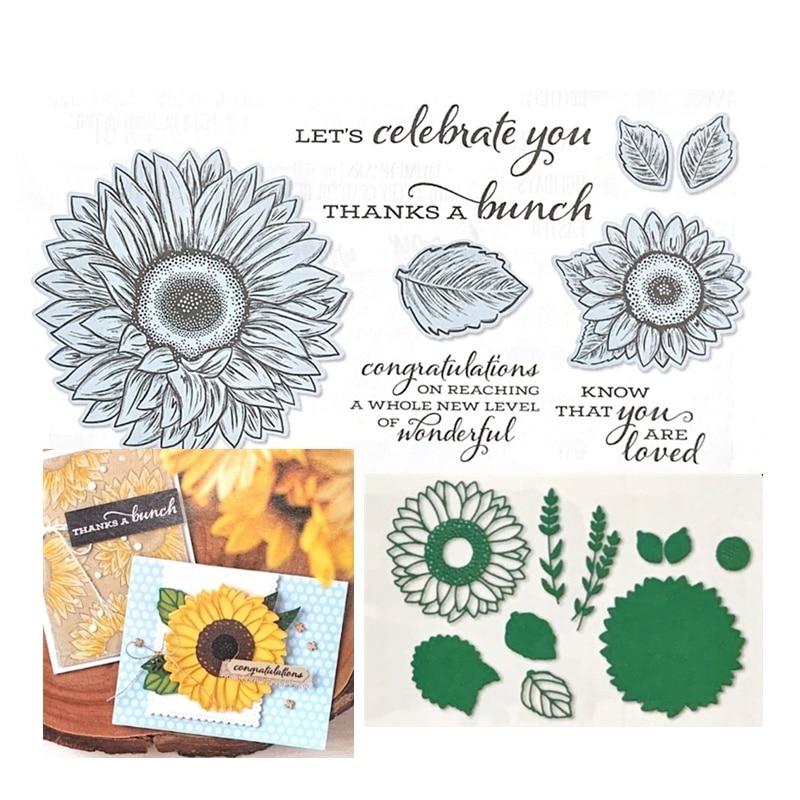 ¡Novedad de 2020! Troqueles de corte de Metal y álbum de recortes para papel, haciendo Flores, marco en relieve, artesanía de tarjeta con sellos transparentes, conjunto de estampación