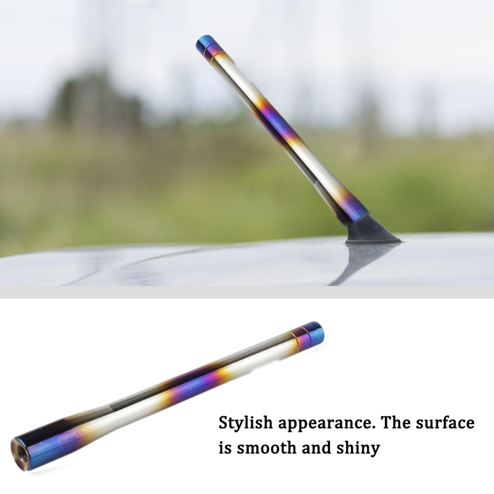 Универсальная автомобильная антенна из алюминиевого сплава, металлическая антенна приема сигнала, автомобильная металлическая антенна пр...