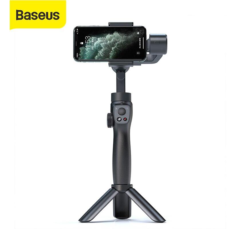 Baseus Selfie Stick Bluetooth 3-Axis Handheld Gimbal Stabilizer Outdoor Holder w/Focus Pull&Zoom Smartphone Selfie Stick Tripod